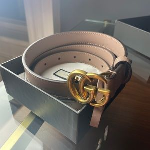 Gucci Marmont Dusty Pink Belt - Thin